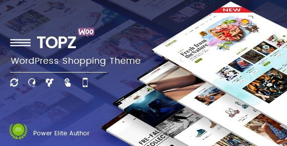 TopZ - Top Food Store & Sport Fashion Shop WordPress WooCommerce Theme  1.4.11