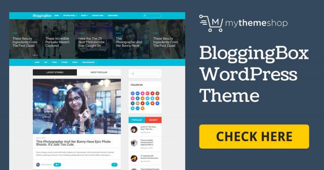 MyThemeShop BloggingBox  1.2.2