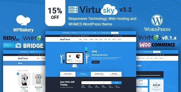 VirtuSky | Responsive Web Hosting and WHMCS WordPress Theme 3.2