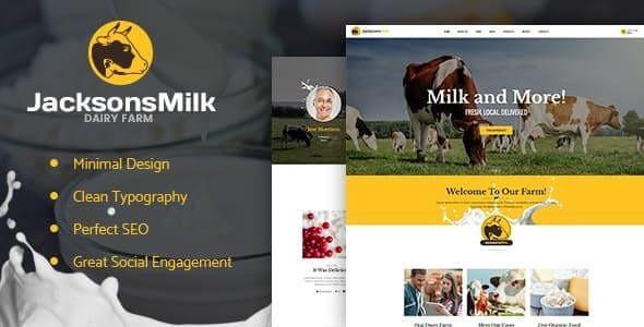 Dairy Farm & Eco Milk Products WordPress Theme  1.1.1
