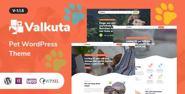 Valkuta - Pet WordPress Theme 1.1.5