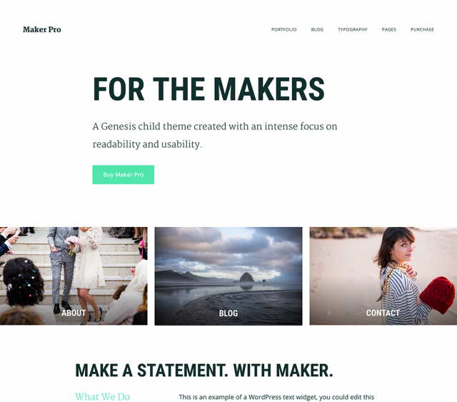 StudioPress - Maker Pro Theme  1.0.1