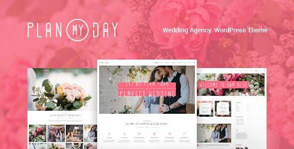 Plan My Day   Wedding / Event Planning Agency WordPress Theme  1.1.4