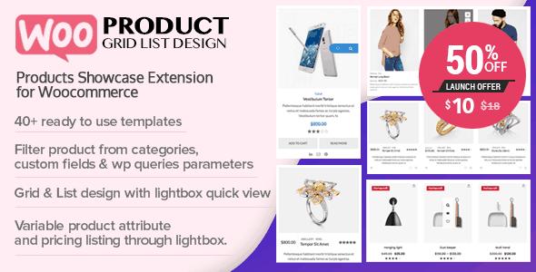 WOO Product Grid/List Design  1.0.8