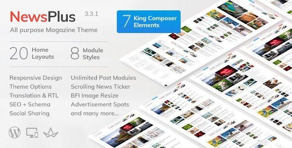 NewsPlus - News and Magazine WordPress theme  3.8.0