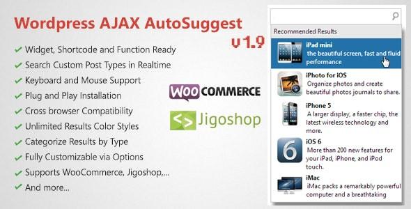 WordPress AJAX Search & AutoSuggest Plugin  1.9.9