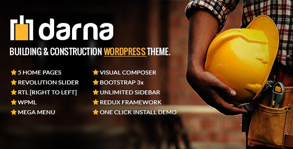 Darna – Building & Construction WordPress Theme 1.2.7