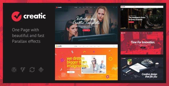 Creatic - One Page Parallax WordPress  1