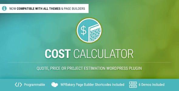 Cost Calculator WordPress Plugin  2.3.2