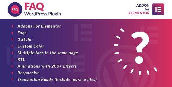 Faq for Elementor WordPress Plugin  1.0.0
