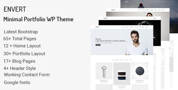Envert - Minimal Portfolio WordPress Theme  1