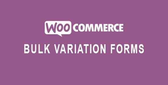 WooCommerce Bulk Variation Forms  1.6.6