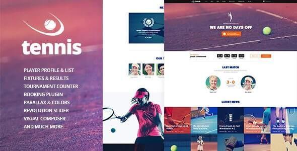 Tennis - Sport Club & Events WordPress Theme  1.2.3