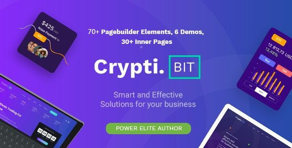 CryptiBIT - Technology, Cryptocurrency, ICO/IEO Landing Page theme  1.0.1