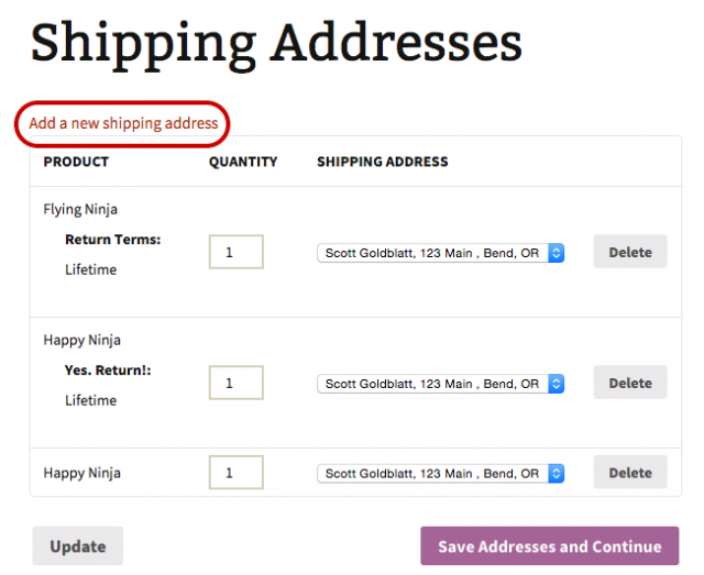 WooCommerce Shipping Multiple Addresses 3.6.25