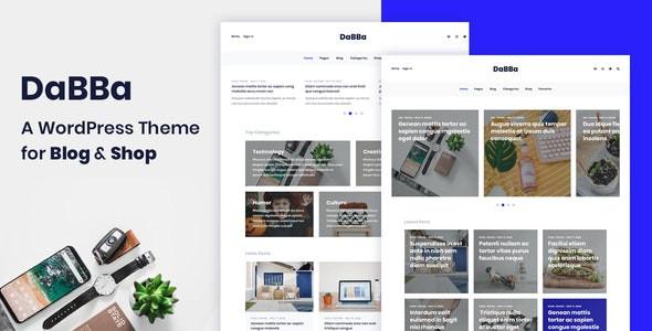 Dabba - A WordPress Theme For Blog & Shop  1.0.7