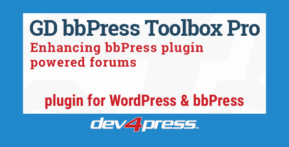 GD bbPress Toolbox Pro  6.3