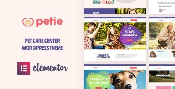Petie - Pet Care Center & Veterinary WordPress Theme 1.10