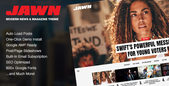 Jawn - Modern WordPress News & Magazine Theme