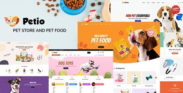 Petio – Pet Store WooCommerce WordPress Theme 1.0