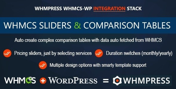 WHMCS Pricing Sliders and Comparison Tables - WHMpress Addon