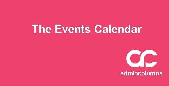 Admin Columns Pro The Events Calendar Addon  1.5