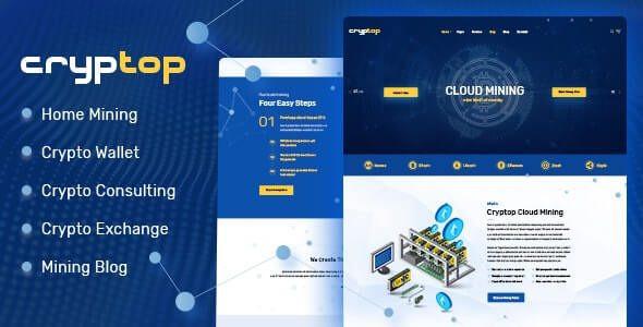 CrypTop - ICO Landing and CryptoCurrency WordPress Theme  1.0.2