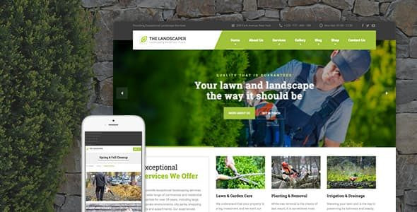 The Landscaper - Lawn & Landscaping WP Theme  2.4.2