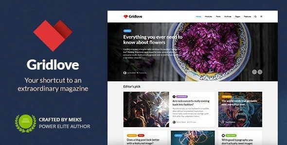 Gridlove - Creative Grid Style News & Magazine WordPress Theme  1.9.5