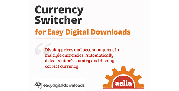 Aelia Currency Switcher for Easy Digital Downloads  1.5.0.190129